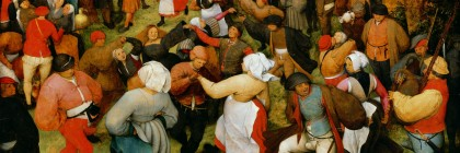 DTR114681 The Wedding Dance, c.1566 (oil on panel) by Bruegel, Pieter the Elder (c.1525-69); 119.3x157.4 cm; Detroit Institute of Arts, USA; City of Detroit Purchase; PERMISSION REQUIRED FOR NON EDITORIAL USAGE; Flemish,  out of copyright  PLEASE NOTE: The Bridgeman Art Library works with the owner of this image to clear permission. If you wish to reproduce this image, please inform us so we can clear permission for you.