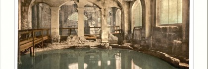 Roman Baths and Abbey Circular Bath Bath England